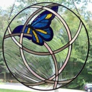 stained glass butterfly by lori tellman-jones