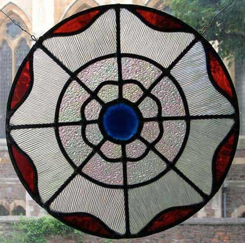 formal leaded stained glass