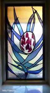 leaded stained glass wedding commission
