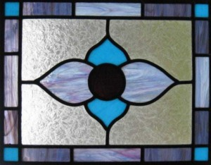 leaded stained glass artistry panel by Kathy Saulton