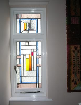 Lovely geometric stained glass