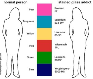 stained glass addicts seeing colour differently