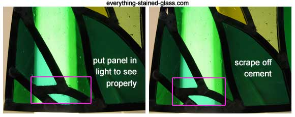 cleaning leaded panel on light box