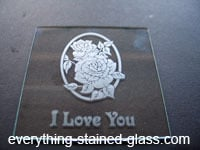 finished glass etched glass