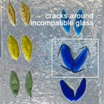 cracks showing incompatible blue glass