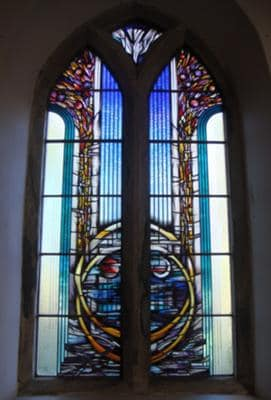 Marriage Window, St. Peters Church, Elwick, Hartlepool