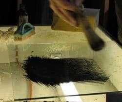 matting with badger brush