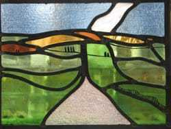 green glass landscape