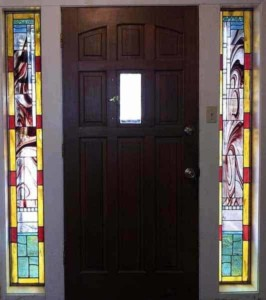 large leaded stained glass