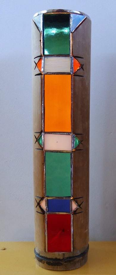bamboo stained glass lamp