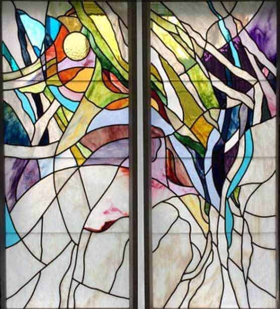 beautiful flowing leaded stained glass lines