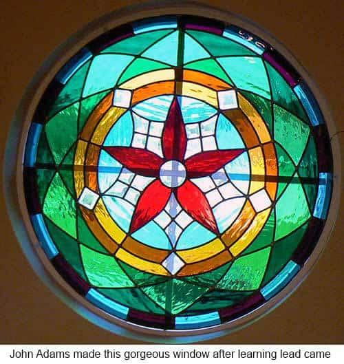 Make a leaded panel course. Window by John Adams