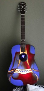stained glass guitar by Mark McCall