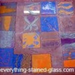 Colorful glass samples