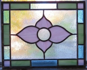 leaded stained glass course panel