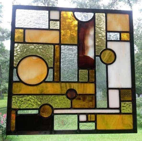 straight leaded stained glass lines