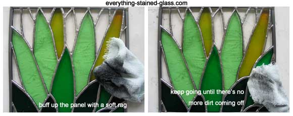 polishing stained glass tutorial