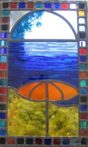 stained glass summer panel