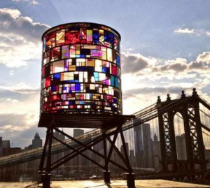Tom Fruin stained glass watertower