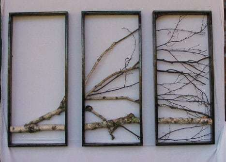 tree design over 3 panels