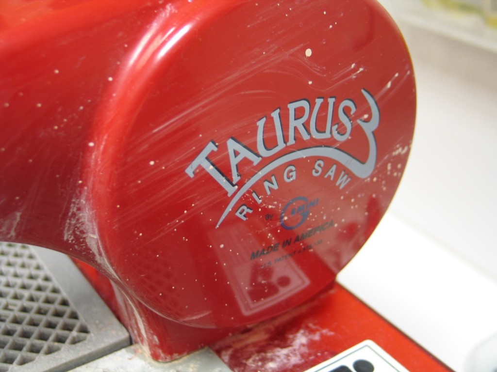 Close-up of Taurus Ring Saw