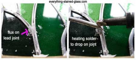 how to solder stained glass with lead came