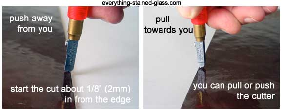 how to hold glass cutter