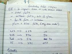 firing schedule records
