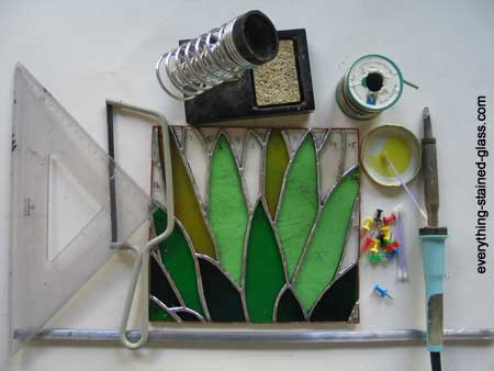 tools and materials for stain glass making
