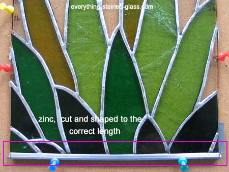 stained glass zinc