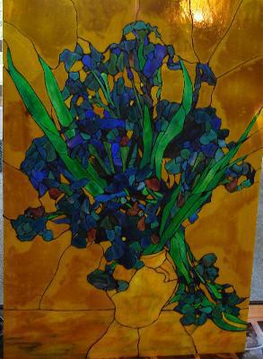 Applique Iris Bouquet