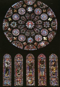 rose window at Chartres