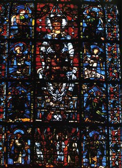 stained glass in Chartres