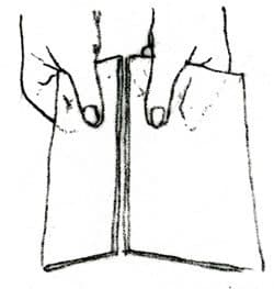 drawing showing how to break glass
