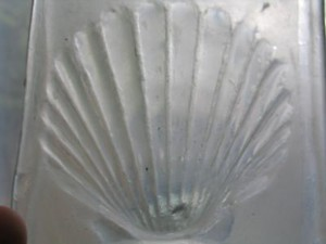 Slumped shell in mould