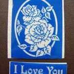 blue etching stencil