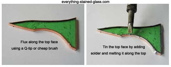 soldering copper foil top edge
