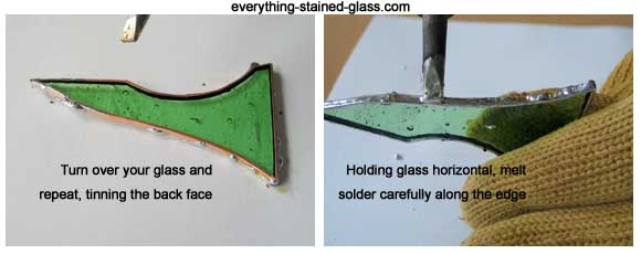 beading stained glass edge