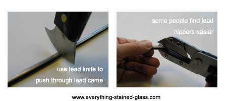 how to use lead knife and lead nipper