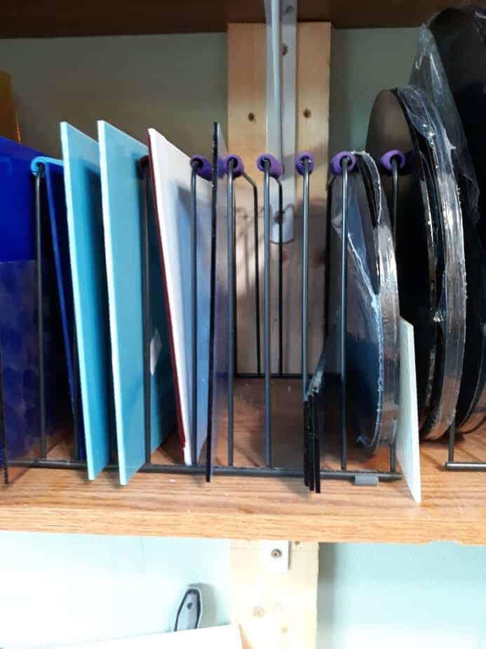 glass storage rack
