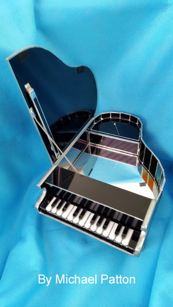 3D piano for stained glass inspiration