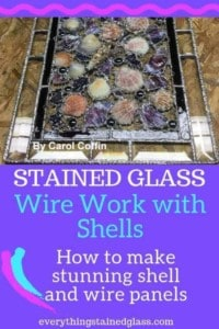 glass with shells and wire working