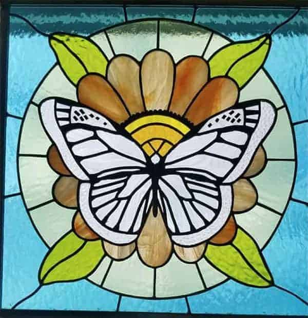 stained glass butterfly picture