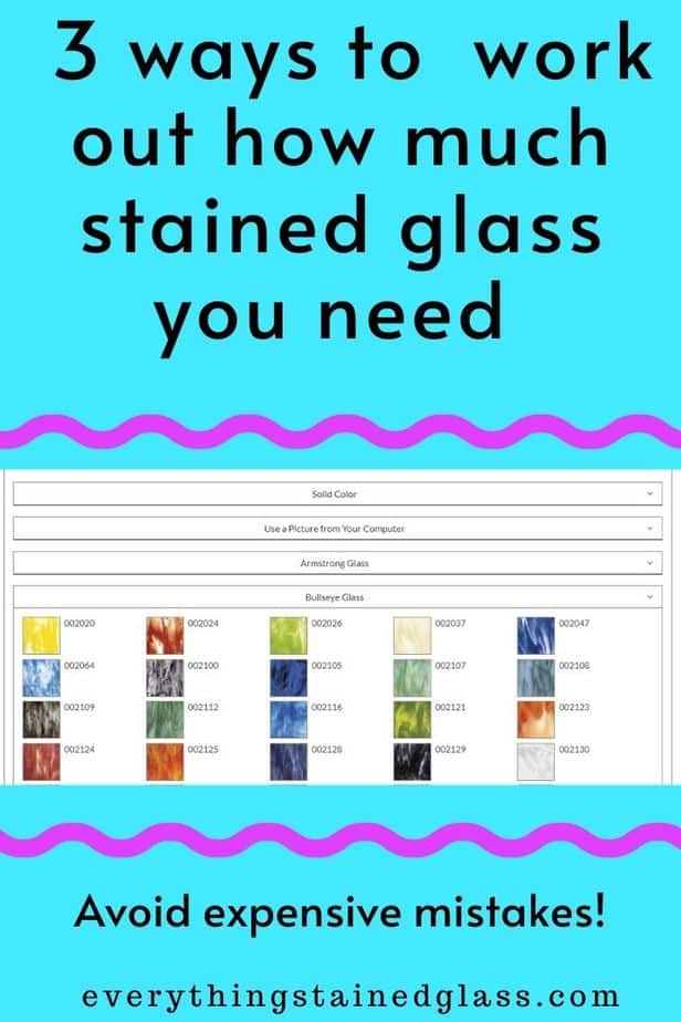 calculate how much stained glass you need for your projects