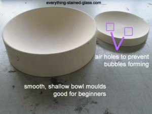 two commercial clay slumping molds