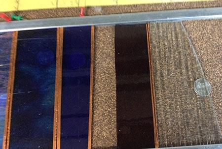 copper foil stained glass showing different widths