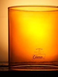 Slightly opaque glass