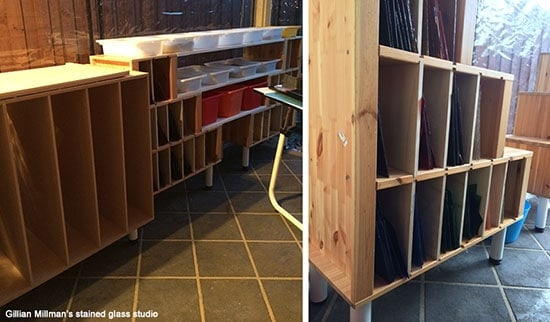 cheap stained glass storage ideas
