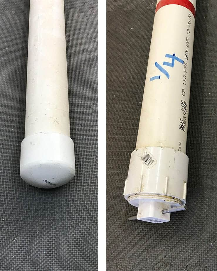 pvc pipe used for storing lead came