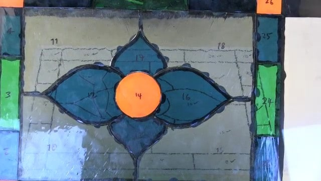 see your stained glass colors before soldering